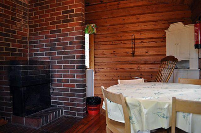 Kalliola cottage fireplace corner
