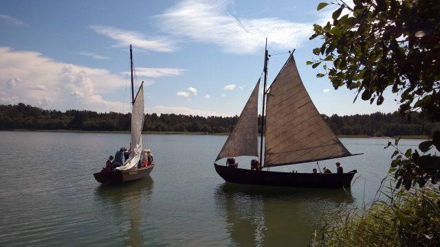 Traditional old sailboats in Houtskari.